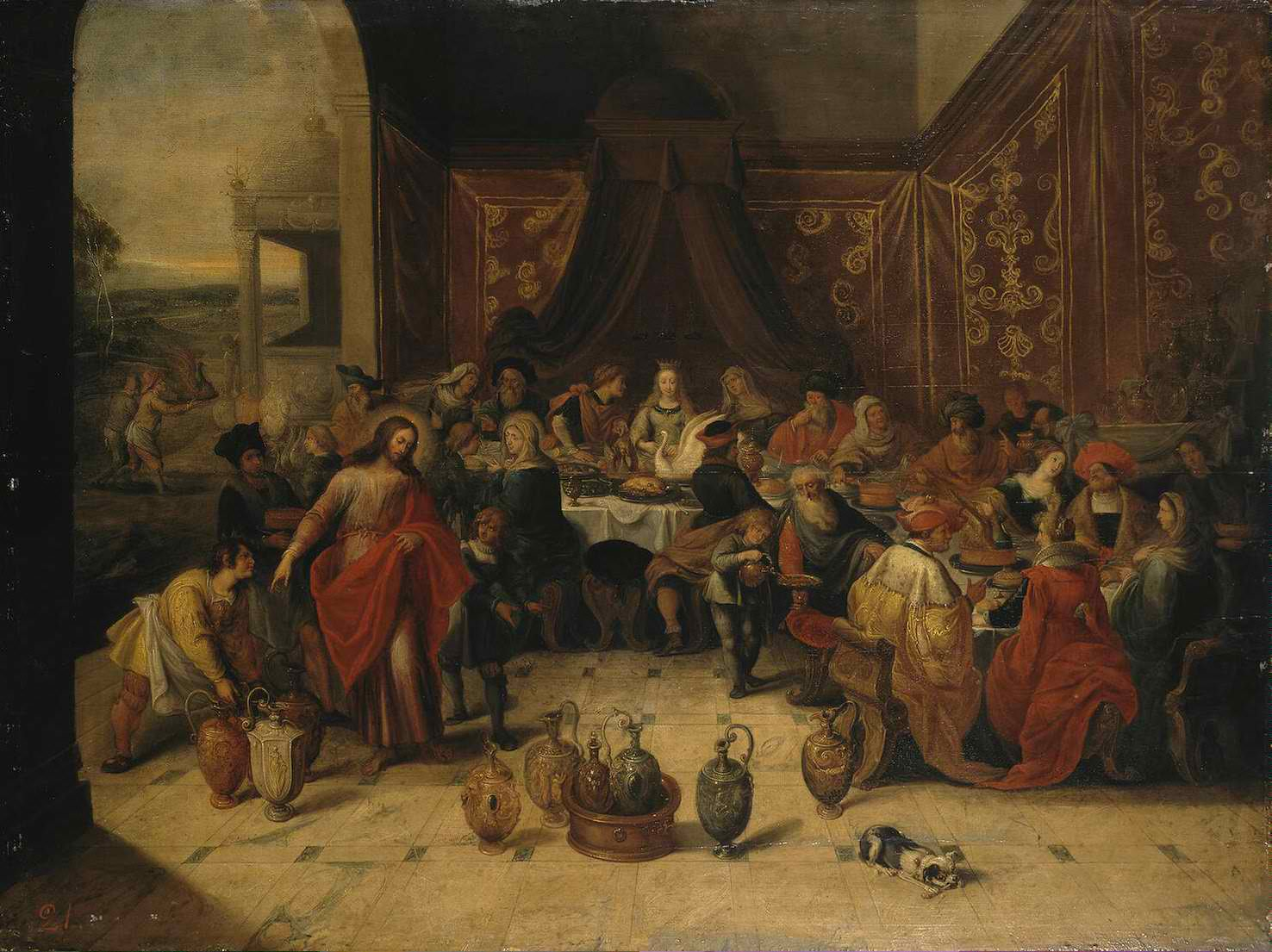 Marriage at Cana by Frans II Francken, 1630s