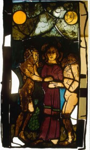 Stained Glass Panel, Betrothal of Adam and Eve, late 14th century, Germany