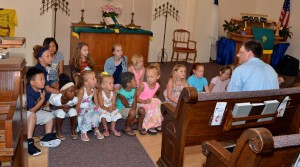 Teaching the children about Jesus at Eureka Church