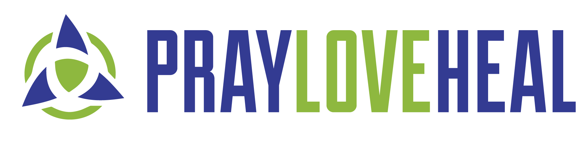 pray heal love logo